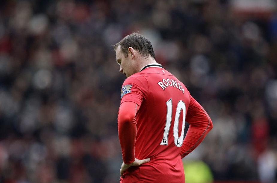 "Wayne'as Rooney pelnė du įvarčius, bet ""Manchester United"" pergalei to nepakako."