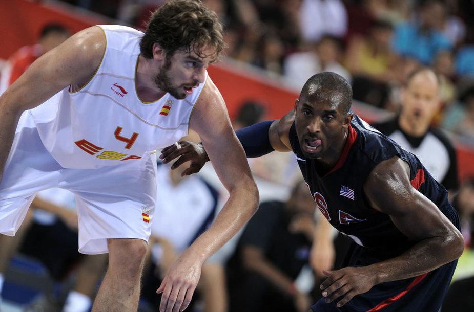 Kaip ir 2008-aisiais Pekine, sekmadienį dėl olimpiados aukso Londone kausis Ispanijos ir JAV krepšinio rinktinės.