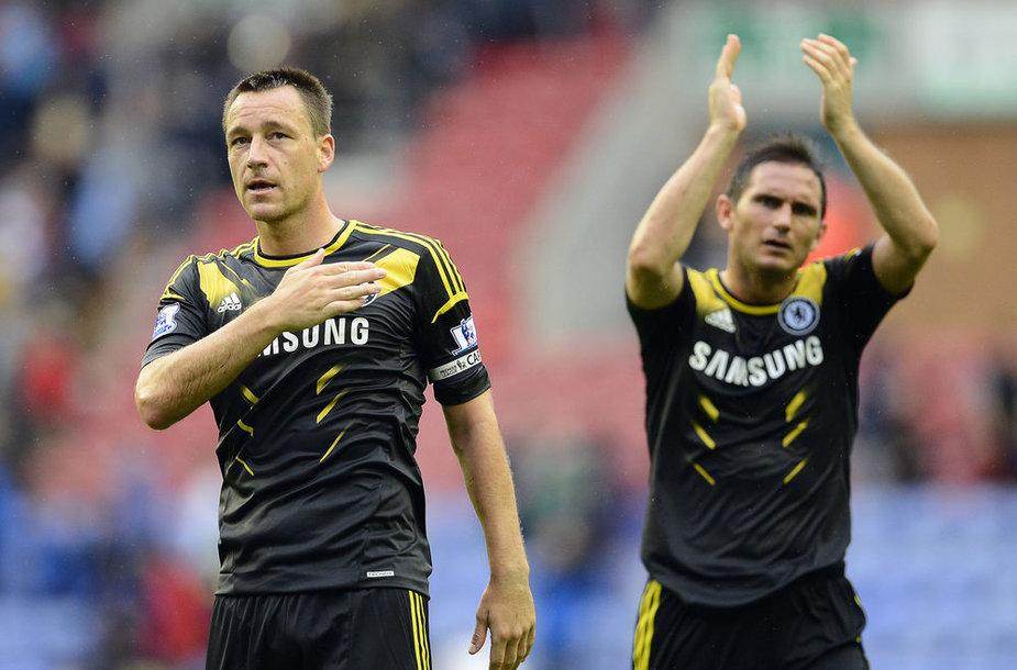 """""""Chelsea"""" kapitonas Johnas Terry ir Frankas Lampardas"""