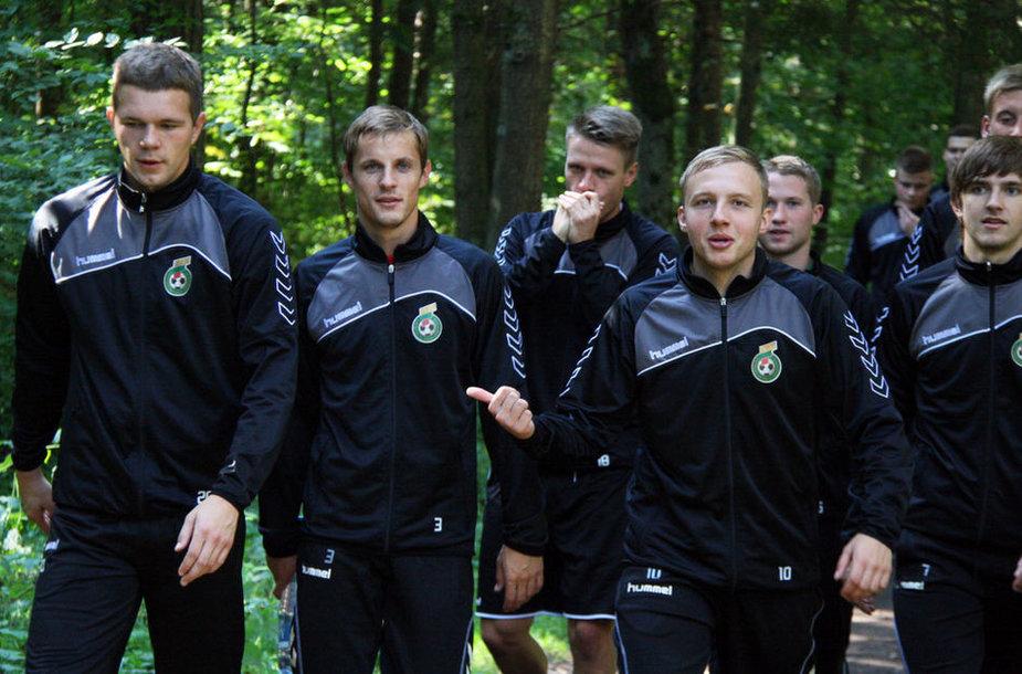 Lietuvos jaunimo futbolo rinktinės treniruotė.