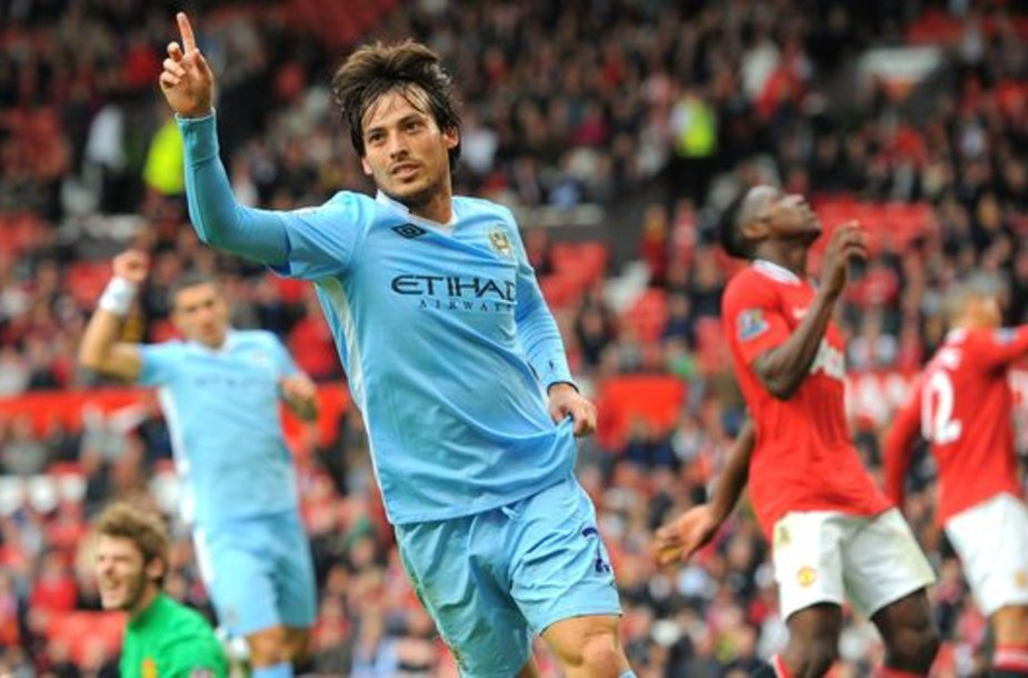 Davidas Silva džiaugiasi įvarčiu