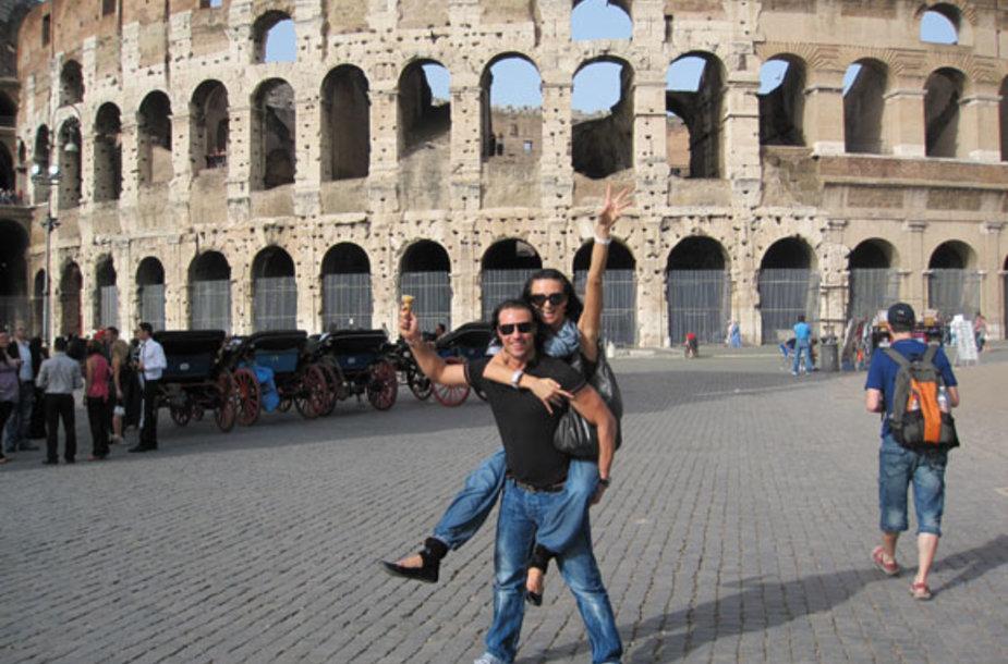 Andrius ir Reda Kandeliai Romoje