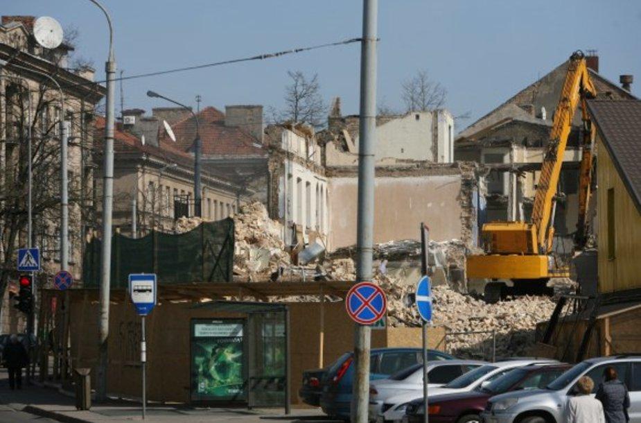 Namas iki kitų metų vasario turėtų atstatytas pagal itin tikslius fotogrametrinius matavimus.