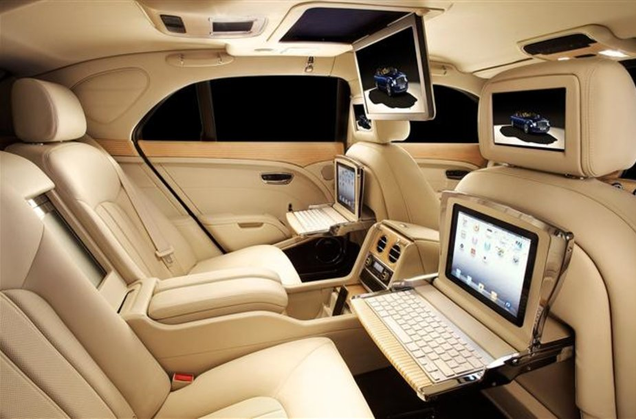 """iPad"" specifikacijos ""Bentley Mulsanne"""