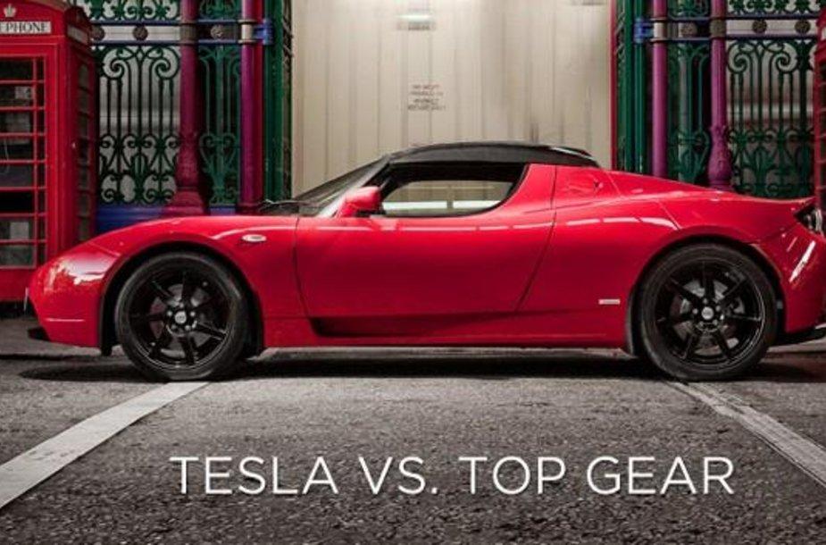 """Top Gear"" prieš ""Tesla"""