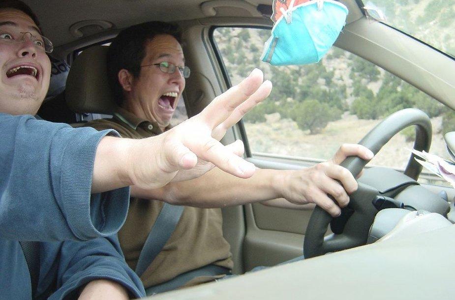 Mokosi vairuoti automobilį