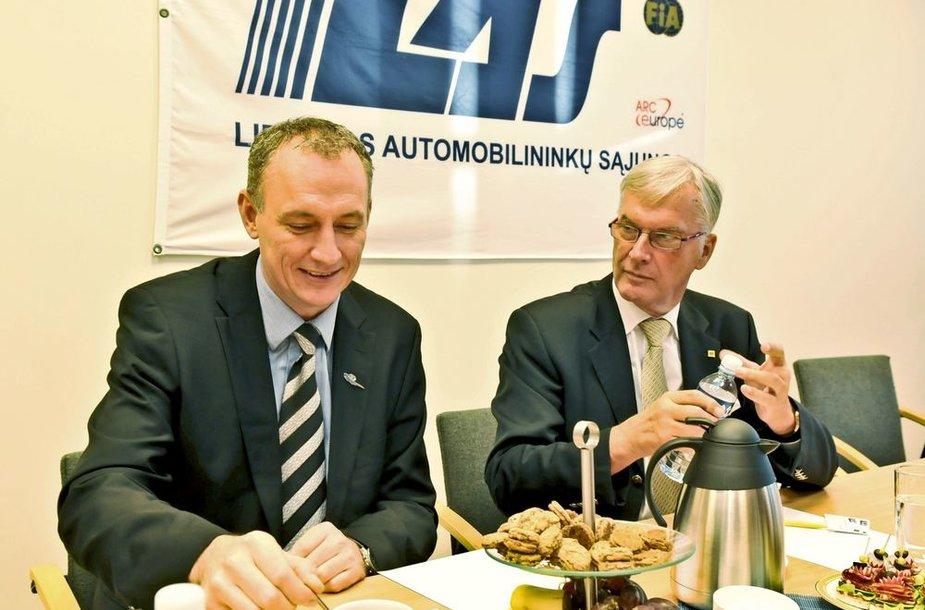 Lietuvoje lankėsi FIA pirmojo regiono vadovai J. Bangsgardas ir W. Krausas