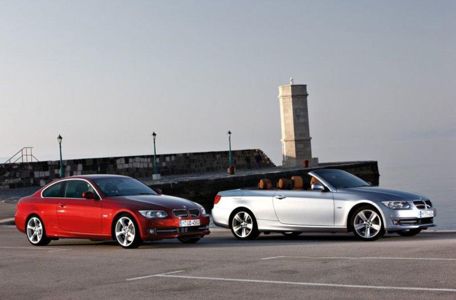 BMW 3 kupė ir kabrioletas sulaukė atnaujinimų