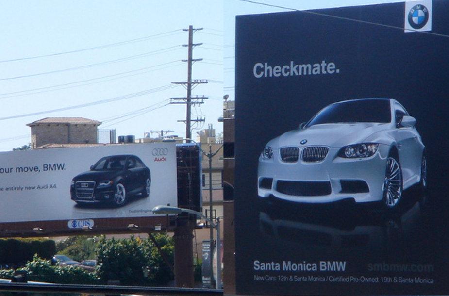 "Kalifornijoje – ""Audi"" ir BMW reklaminis karas"