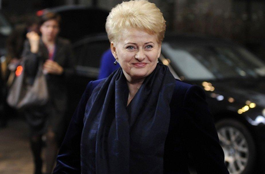 Dalia Grybauskaitė atvyko į ES viršūnių susitikimą.
