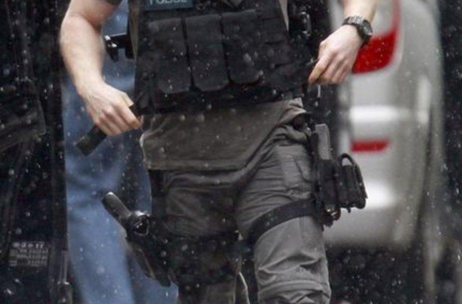 Policininkas įvykio vietoje