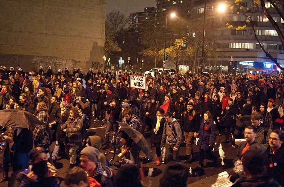 Studentų protestas Montrealyje
