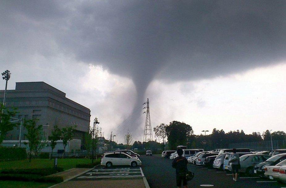Tornado Tsukubos mieste