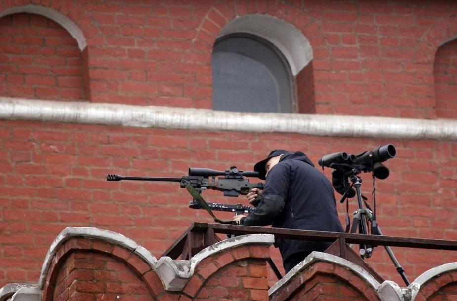 Maskvos Raudonojoje aikštėje budintis snaiperis