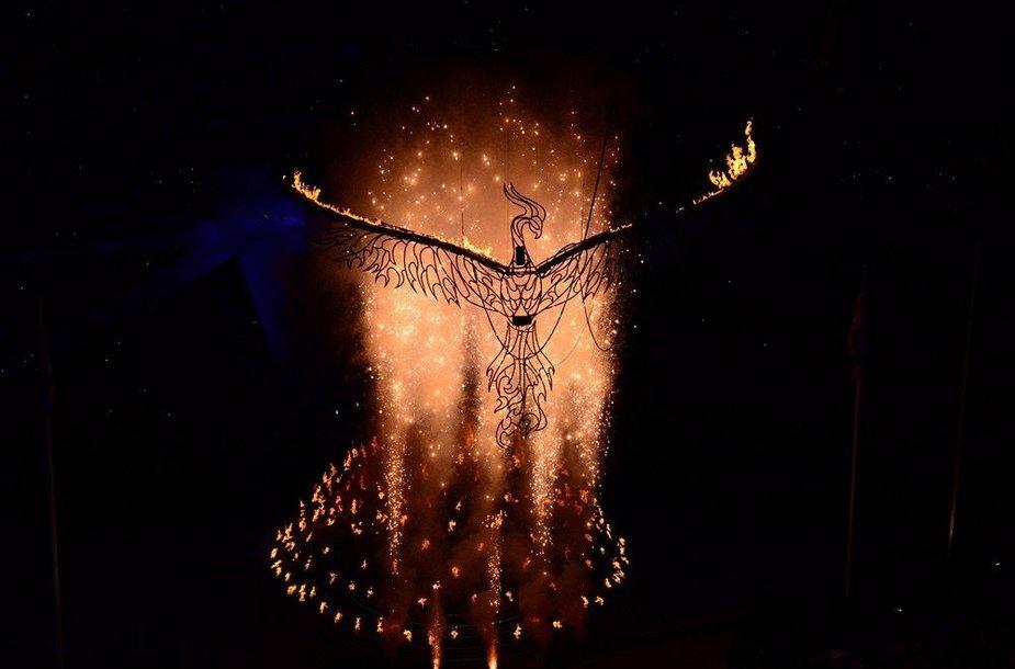 Londono olimpinės ugnies užgesinimo ceremonija