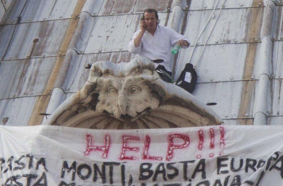 Italijos verslininko protestas