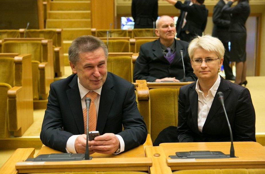 Valdas Vasiliasukas ir Neringa Venckienė