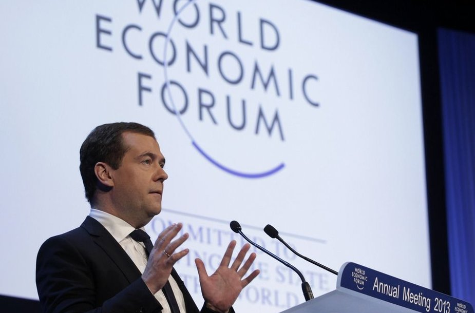 Rusijos ministras pirmininkas Dmitrijus Medvedevas