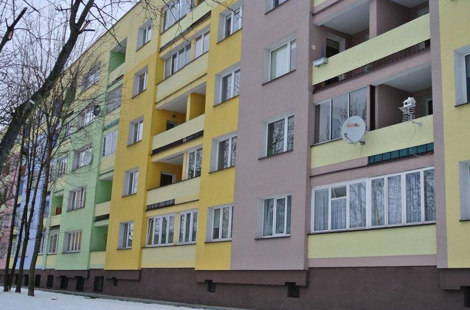 Augustave po renovacijos namai dažomi įvairiomis spalvomis
