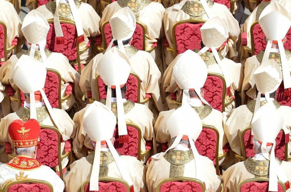 Kardinolai popiežiaus Pranciškaus inauguracijos ceremonijoje
