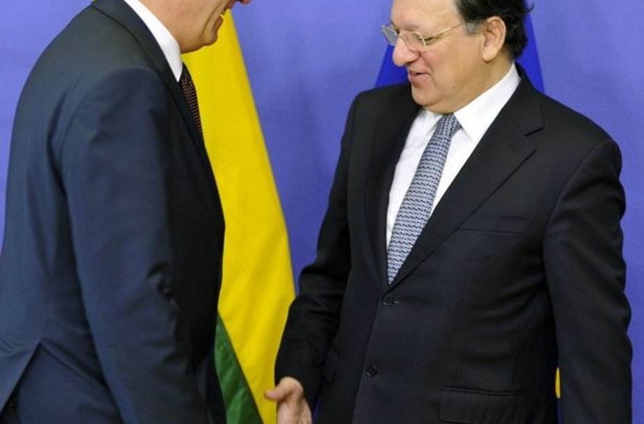Algridas Butkevičius ir Jose Manuelis Barroso