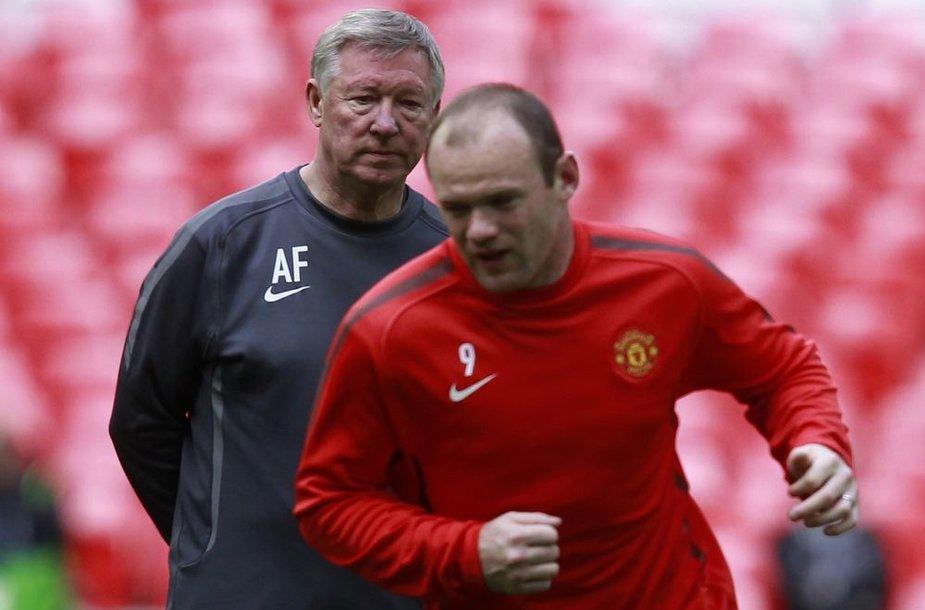 Alexas Fergusonas ir Wayne'as Rooney