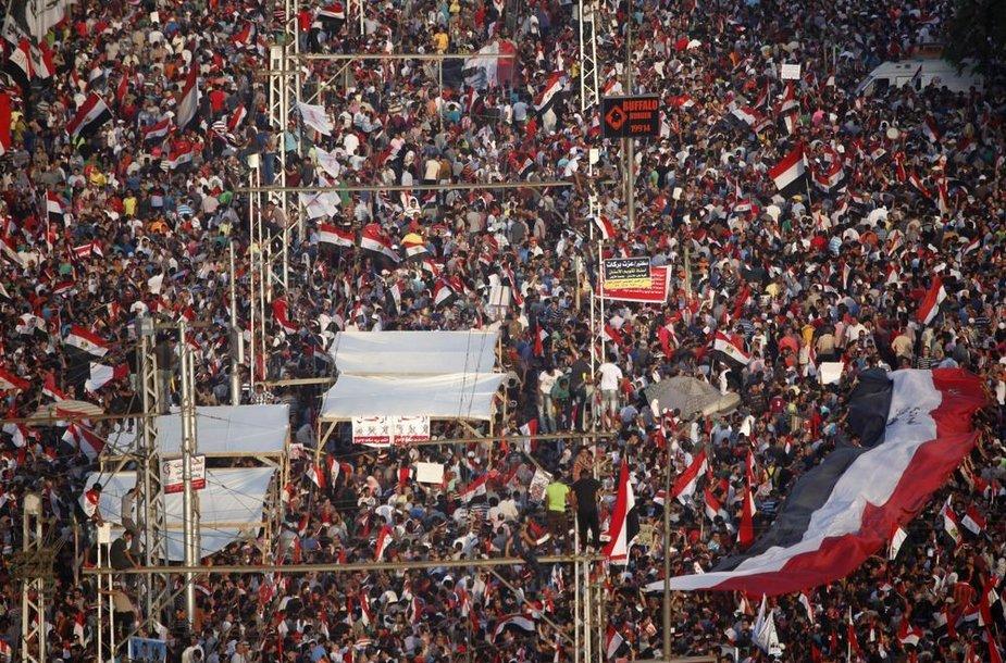 Protestuotojai Kaire