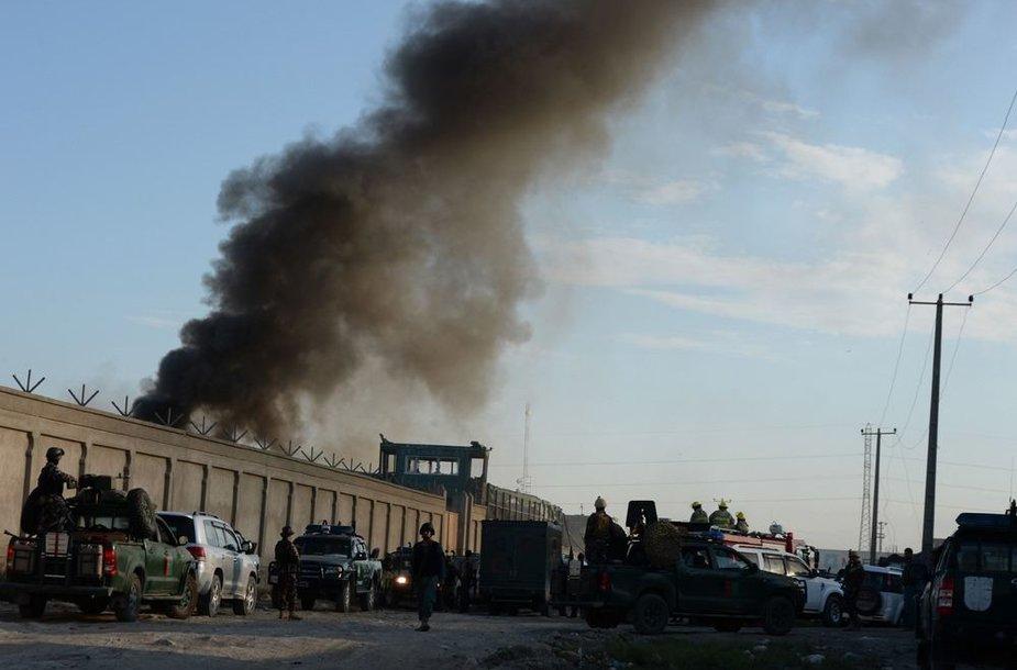 Mirtininkas Kabule atakavo logistikos bendrovę.