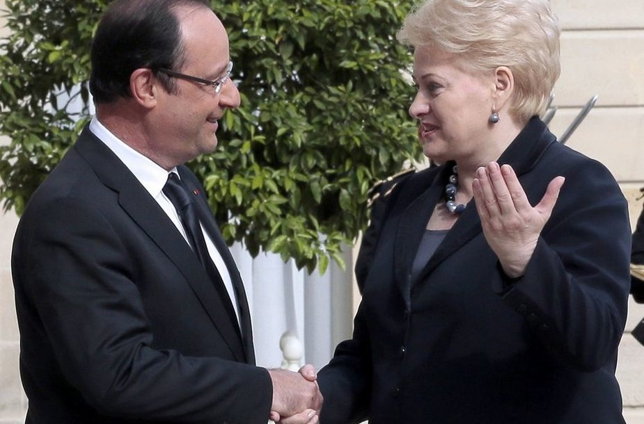 Francois Hollande'as ir Dalia Grybauskaitė