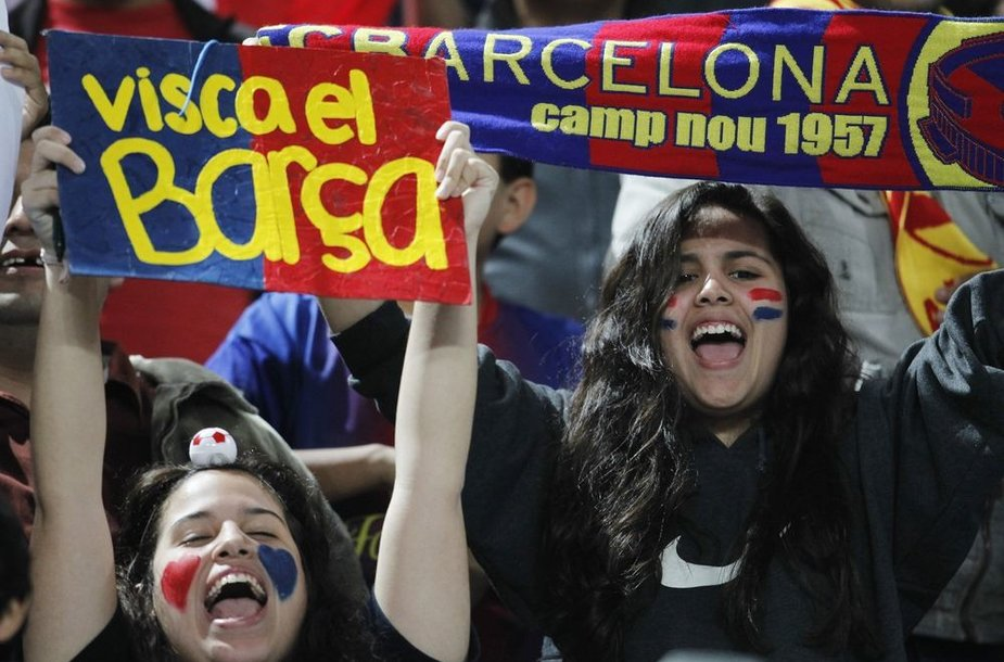 "Lionelio Messi ir ""Barcelona"" klubo gerbėjos"