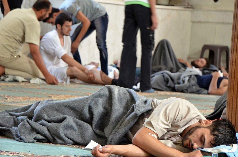 Sirijoje per dujų ataka apnuodyti žmonės