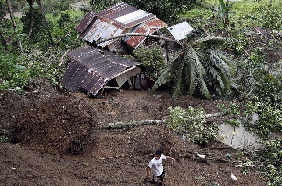 Žemės nuošliauža Filipinuose