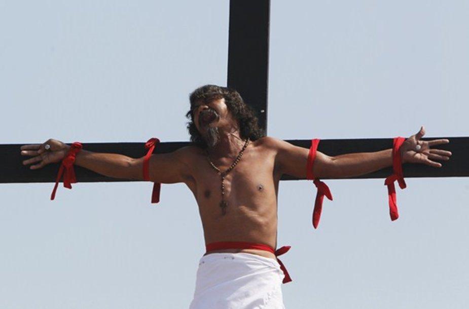 Jėzaus Kristaus kančios minėjimo akimirka