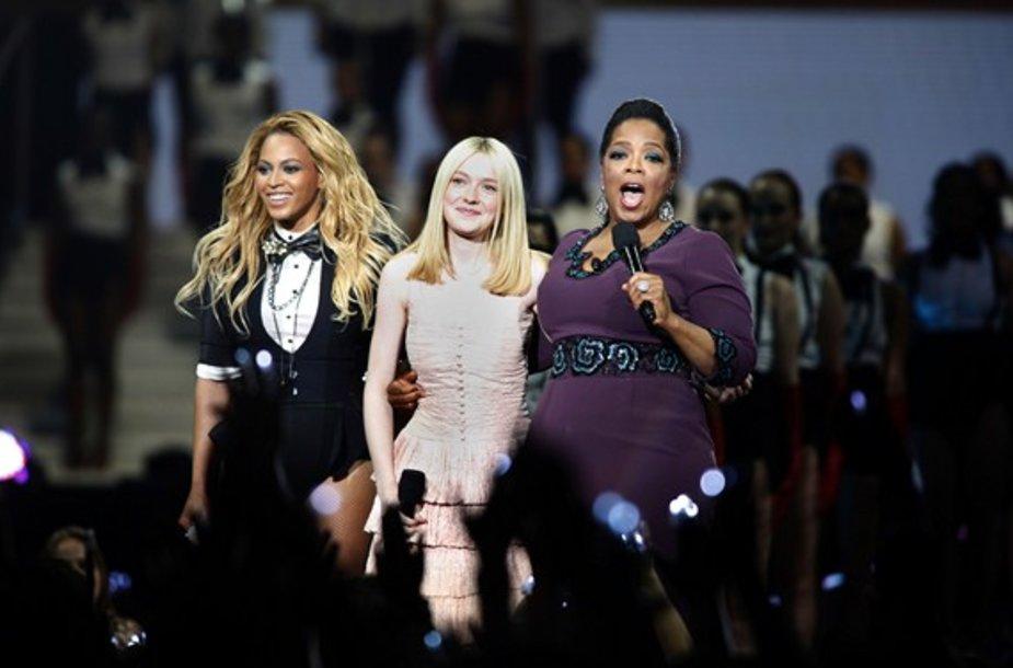 Beyonce Knowles, Dakota Fanning ir Oprah Winfrey