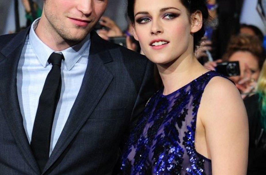 Robertas Pattinsonas ir Kristen Stewart