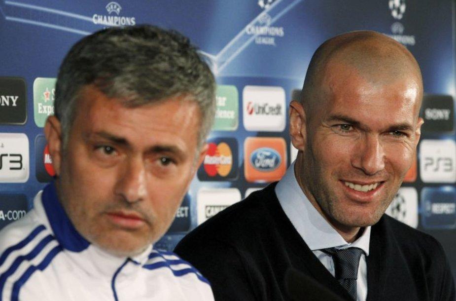 Spaudos konferencija prieš rungtynes (Jose Mourinho ir Zinedine'as Zidane'as)
