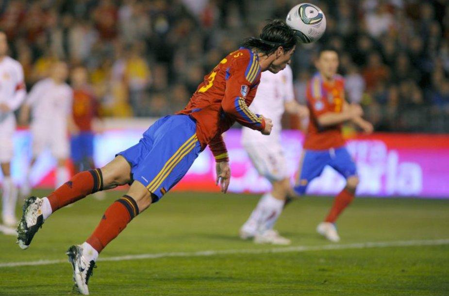 Ispanijos futbolininkai žaidė draugiškas rungtynes