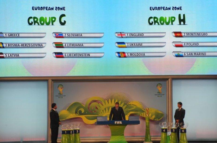 Lietuva pateko į G grupę