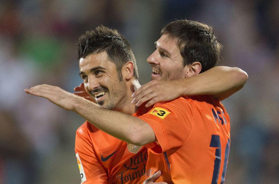 Davidas Villa ir Lionelis Messi