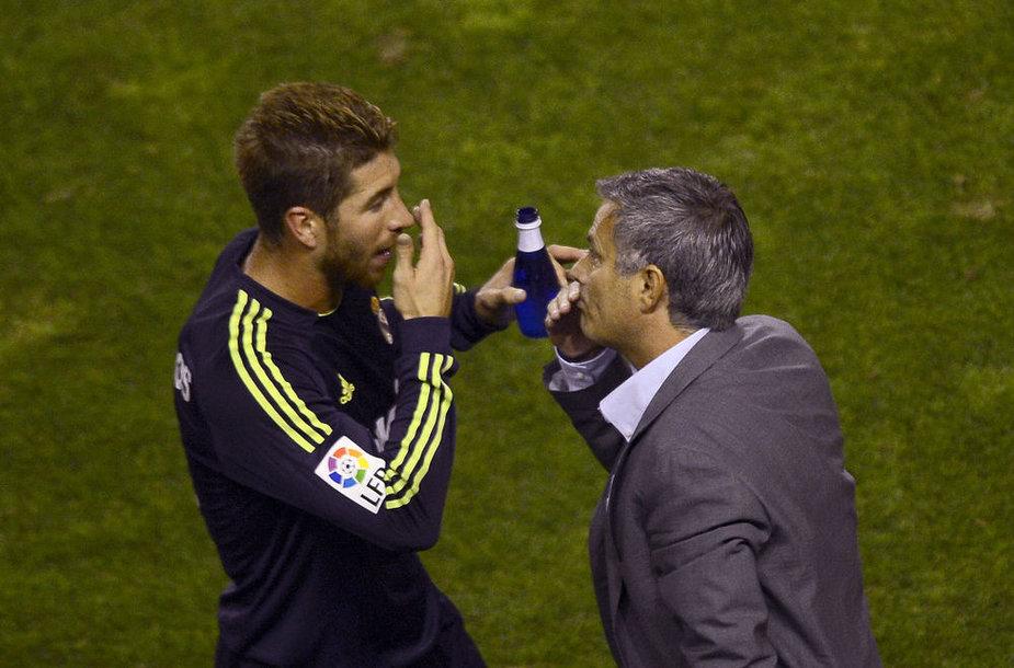 Sergio Ramosas ir Jose Mourinho