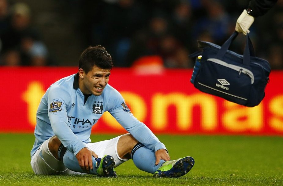 Sergio Aguero susižeidė antradienio mače