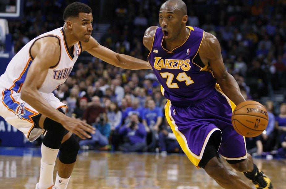 Kobe Bryantas neišgelbėjo savo komandos nuo dar vienos nesėkmės