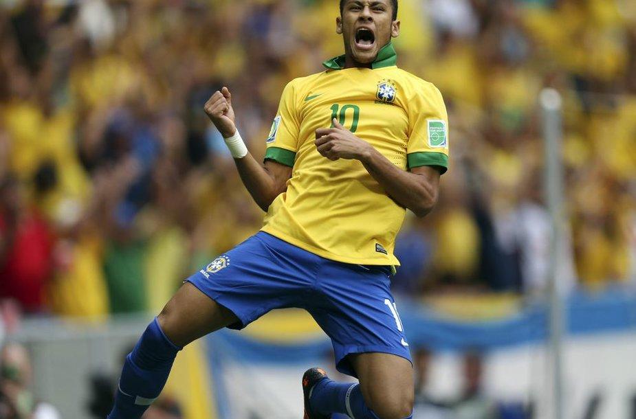 Neymaras pelnė pirmą įvartį rungtynėse prabėgus vos trims minutėms