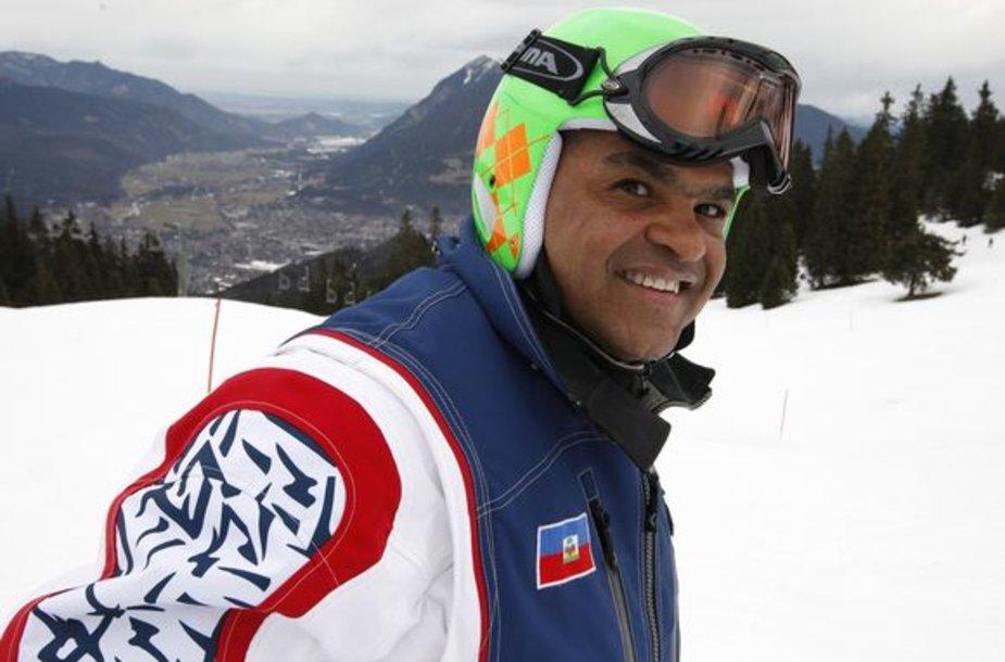 47-erių slidininko iš Haičio laukia istorinis debiutas planetos čempionate