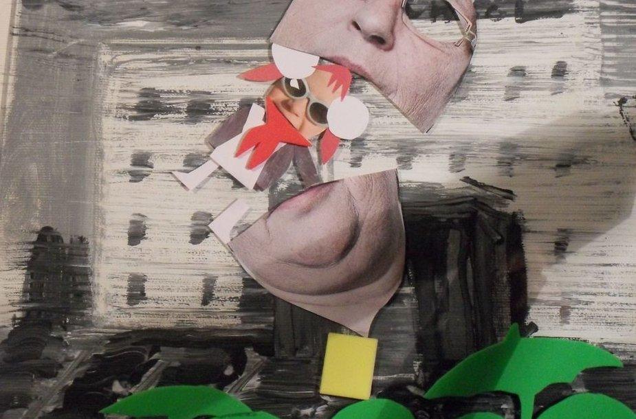 """Marijos Griniuk parodos Šv.Jono gatvės galerijaoje atidaroma unikali Marijos Griniuk paroda """"Erdvė Supermarketas"""" eksponatas"""
