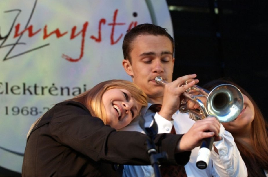 "Džiazo festivalio ""Jaunystė 2010"" akimirka."