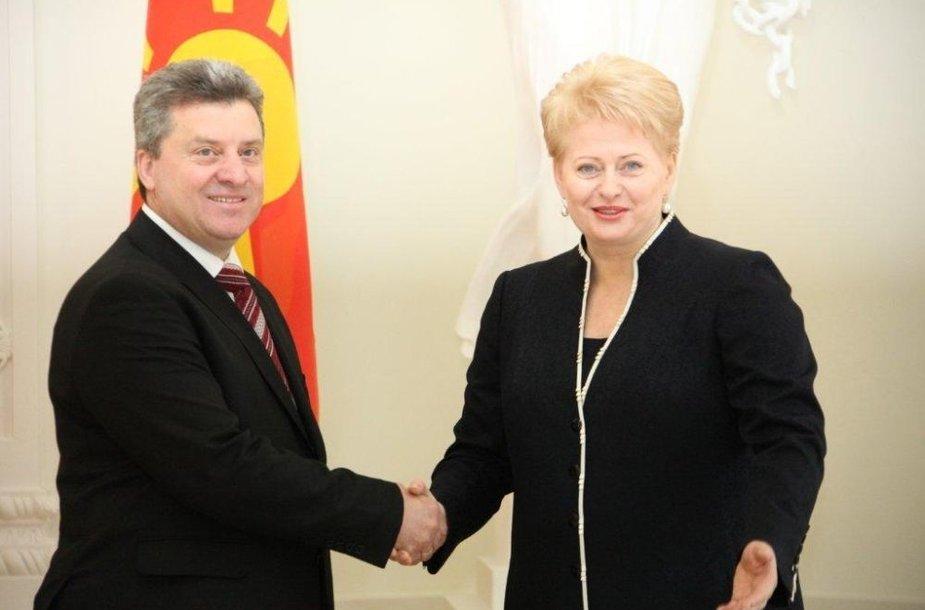 Prezidentė Dalia Grybauskaitė susitiko su Lietuvoje viešinčiu Makedonijos Respublikos Prezidentu Gjorge Ivanovu