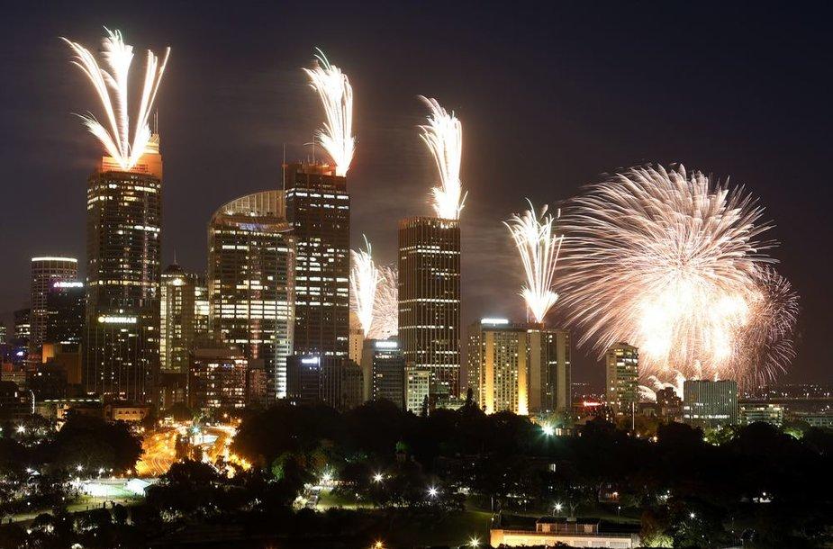 Sidnėjus pasitiko Naujuosius metus
