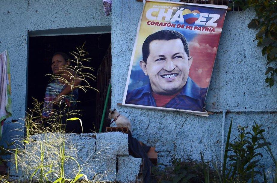 Hugo Chavezo plakatas.