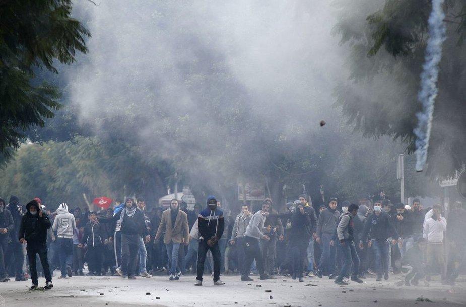 Tunise vyksta protestai